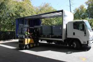 loading freight for distribution