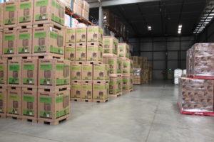 pallets in block stacks